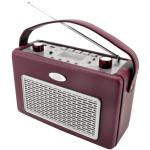Soundmaster TR50 USB Retro Kofferradio mit MP3 Player, Bordeaux, B-WARE