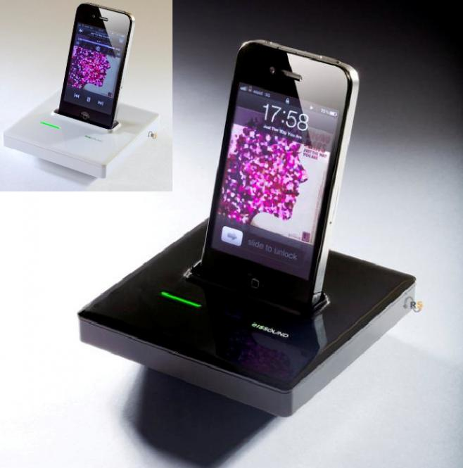 Funk Dockingstation für iPod/iPhone m. AUX, passend f. KBSound iSelect, 2 Farben