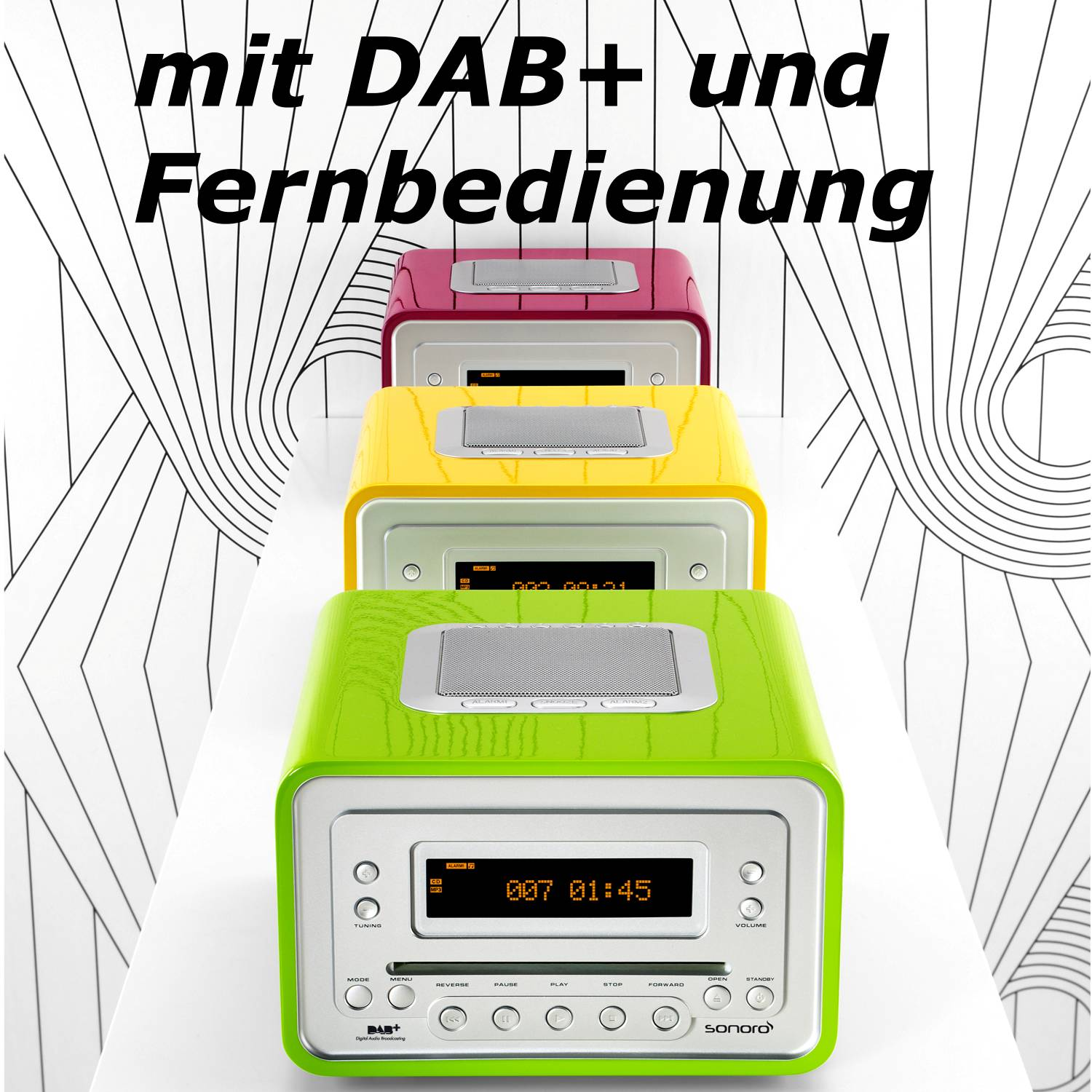 sonoro audio cubo au 1800 dab radio mit cd und rds auch. Black Bedroom Furniture Sets. Home Design Ideas
